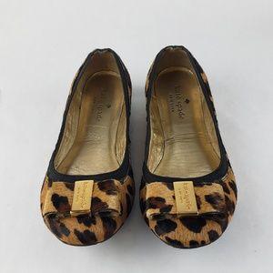 """Kate Spade """"Tock"""" Ballet Flat - Leopard Calf Hair"""